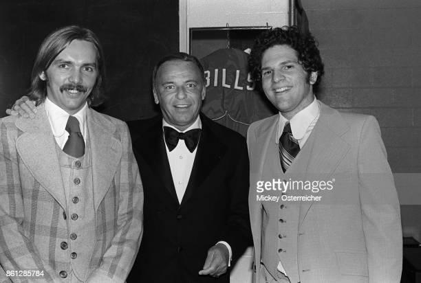 Harvey Weinstein, Frank Sinatra, with Harvey partner Corky Berger September 4, 1974.