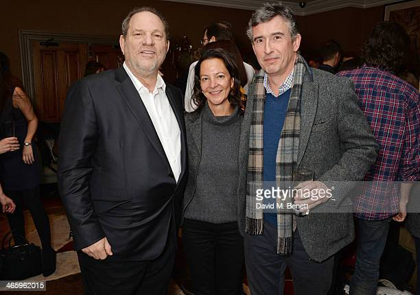 Harvey Weinstein Gaby Tana and Steve Coogan attend a drinks reception and private screening of BAFTA and Oscar nominated film 'Philomena' hosted by...