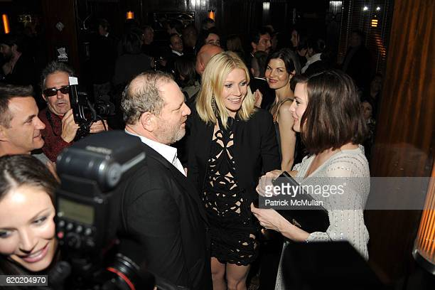 Harvey Weinstein Gwyneth Paltrow and Liv Tyler attend THE CINEMA SOCIETY MICHAEL KORS host the after party for 'IRON MAN' at The Odeon on April 28...