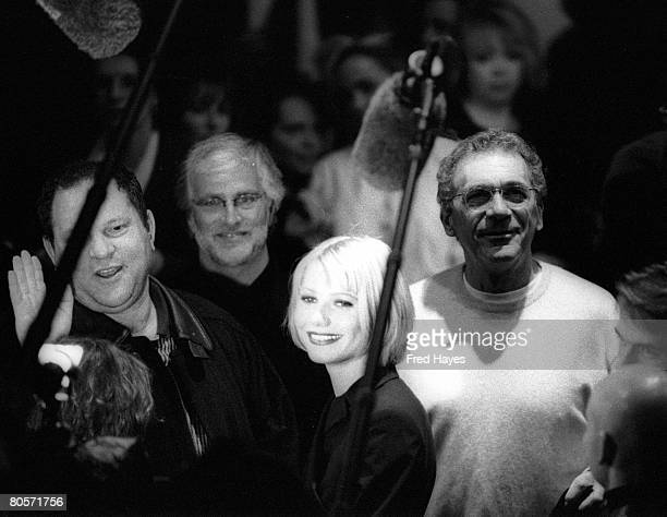 Harvey Weinstein Gwyneth Paltrow and Sydney Pollack at the 1998 Sundance Film Festival in Park City Utah