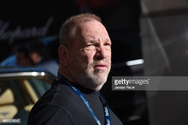 Harvey Weinstein is spotted at Hotel Martinez during the 70th annual Cannes Film Festival at on May 19 2017 in Cannes France