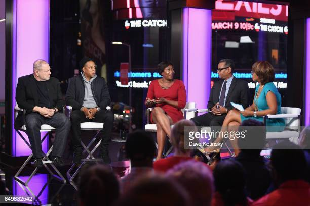 Harvey Weinstein Jay Z Joy Reid Vincent Warren and Gayle King speak onstage with during TIME AND PUNISHMENT A Town Hall Discussion with JAY Z and...