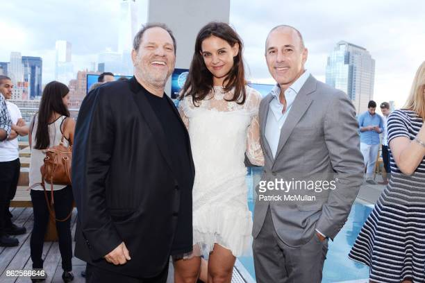 Harvey Weinstein Katie Holmes and Matt Lauer attend Cocktail party to celebrate ASP The World Surf League at Jimmy at the James Hotel on July 24 2014...