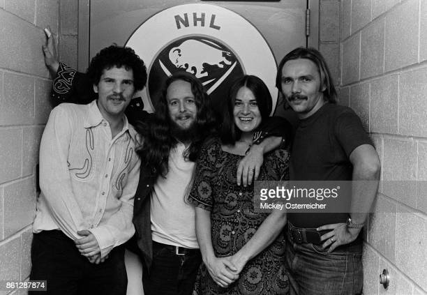 Harvey Weinstein, Keith and Donna Godchaux of the Grateful Dead, and Corky Berger September 26, 1973 at The Buffalo AUD in Buffalo, New York.