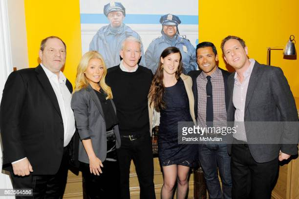 Harvey Weinstein Kelly Ripa Anderson Cooper Cynthia Lowen Mark Consuelos and Lee Hirsch attend The Weinstein Company with The Cinema Society BING...