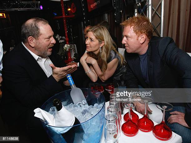 Harvey Weinstein Laurie Feltheimer and Relativity Media's Ryan Kavanaugh attend the Relativity Media Cocktail Party at Nikki Club during the 61st...