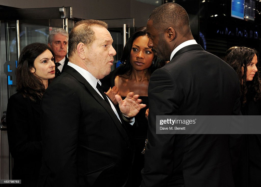 <a gi-track='captionPersonalityLinkClicked' href=/galleries/search?phrase=Harvey+Weinstein&family=editorial&specificpeople=201749 ng-click='$event.stopPropagation()'>Harvey Weinstein</a>, <a gi-track='captionPersonalityLinkClicked' href=/galleries/search?phrase=Naomie+Harris&family=editorial&specificpeople=238918 ng-click='$event.stopPropagation()'>Naomie Harris</a> and <a gi-track='captionPersonalityLinkClicked' href=/galleries/search?phrase=Idris+Elba&family=editorial&specificpeople=215443 ng-click='$event.stopPropagation()'>Idris Elba</a> attend the Royal Film Performance of 'Mandela: Long Walk to Freedom' at Odeon Leicester Square on December 5, 2013 in London, United Kingdom.
