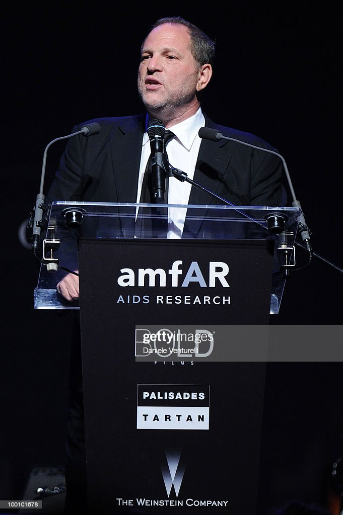 Harvey Weinstein speaks during amfAR's Cinema Against AIDS 2010 benefit gala at the Hotel du Cap on May 20, 2010 in Antibes, France.