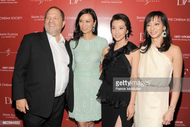 Harvey Weinstein Wendi Murdoch Li Bingbing and Florence Sloan attend THE CINEMA SOCIETY with IVANKA TRUMP JEWELRY DIANE VON FURSTENBERG host a...