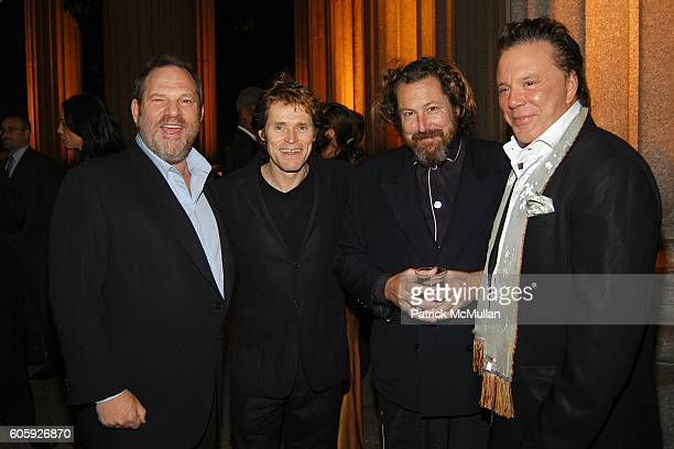 Harvey Weinstein Willem Dafoe Julian Schnabel and Mickey Rourke attend VANITY FAIR Tribeca Film Festival Party hosted by Graydon Carter and Robert...