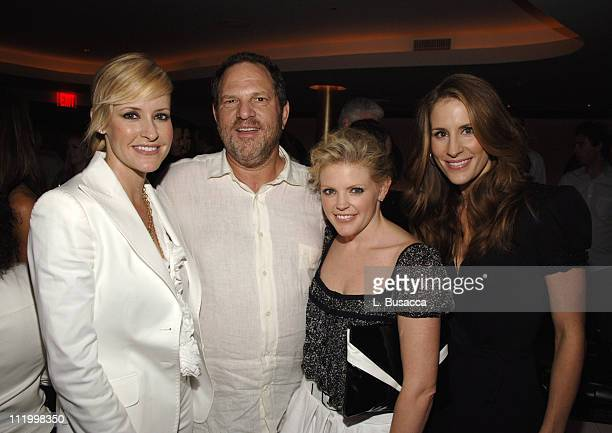 Harvey Weinstein with Martie Maguire Emily Robison and Natalie Maines of the Dixie Chicks
