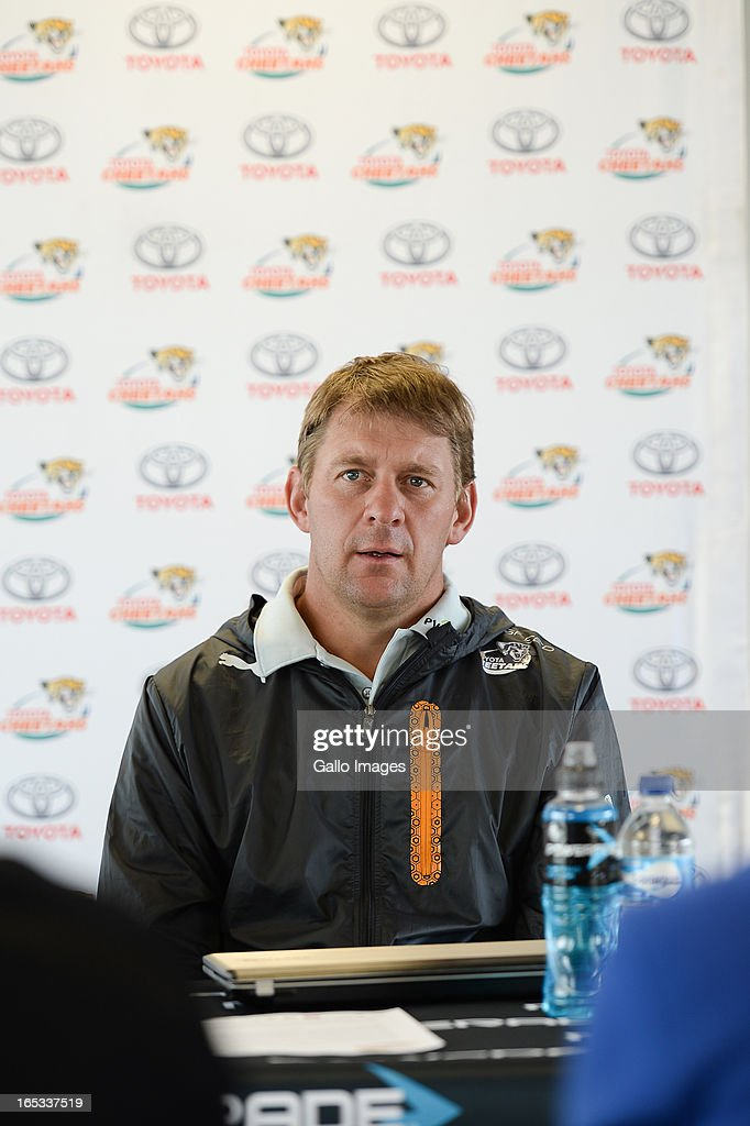 Harvies Fourie during the Toyota Cheetahs press conference at Free State Stadium on April 03, 2012 in Bloemfontein, South Africa.