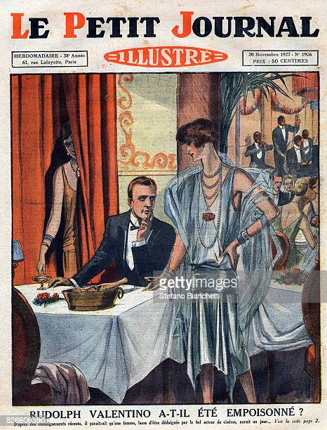 Has Rudolph Valentino been poisoned Jealous woman seen pouring diamond powder into the actors glass at a restaurant in New York Frontpage of French...