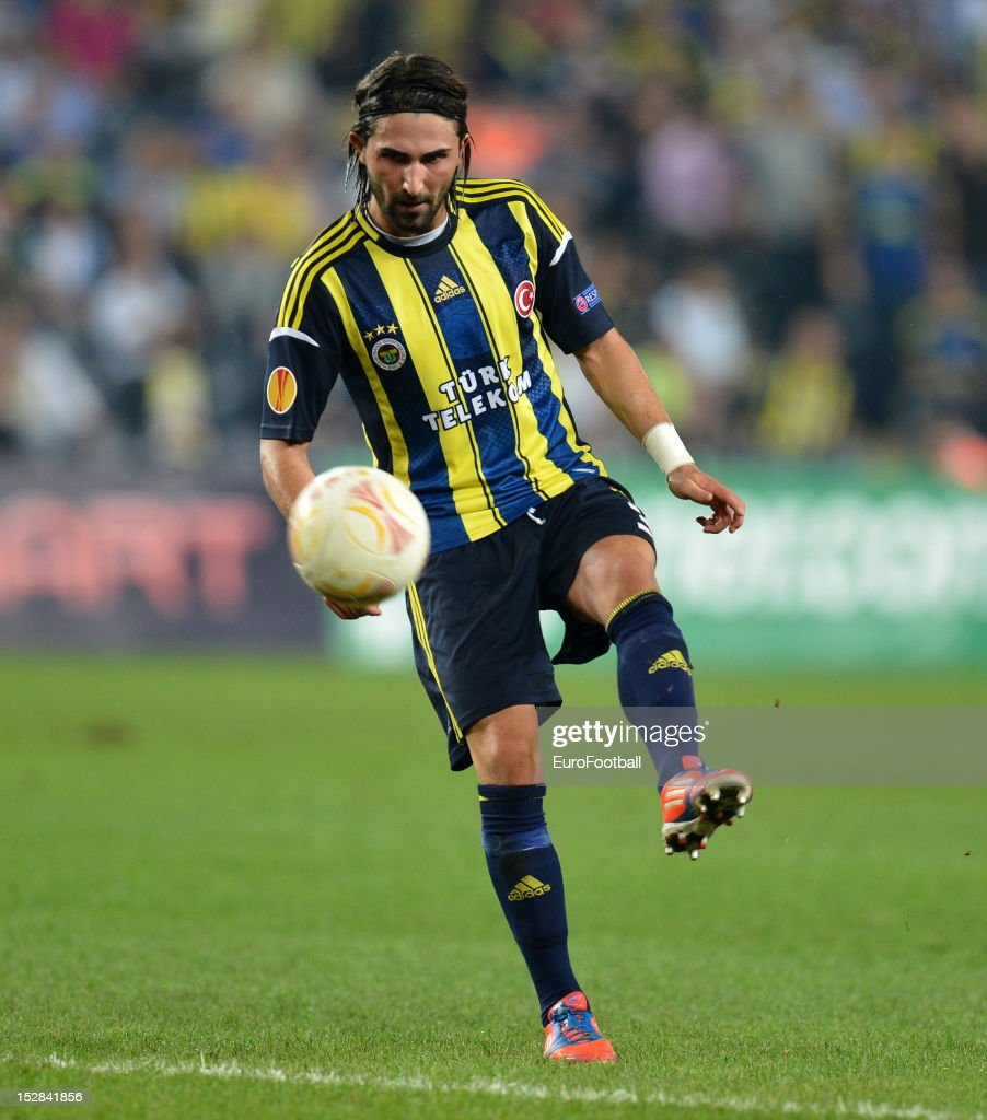 Hasan Ali Kaldirim of Fenerbahce SK in action during the UEFA Europa League group stage match between Fenerbahce SK and Olympique de Marseille on September 20, 2012 at Sukru Saracoglu in Istanbul, Turkey.