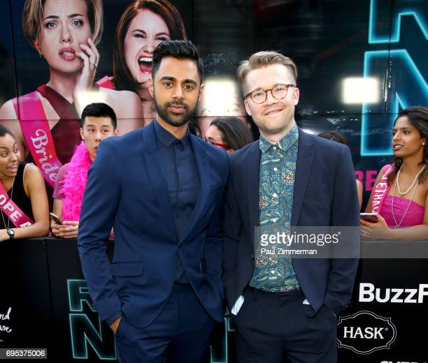 Hasan Minhaj and Patrick Carlyle attend the 'Rough Night' New York Premiere on June 12 2017 in New York City