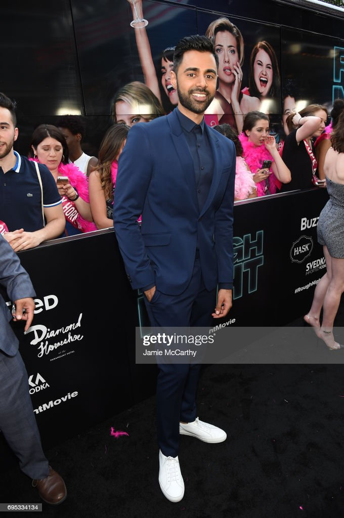Hasan Minhaj attends New York Premiere of Sony's ROUGH NIGHT presented by SVEDKA Vodka at AMC Lincoln Square Theater on June 12, 2017 in New York City.