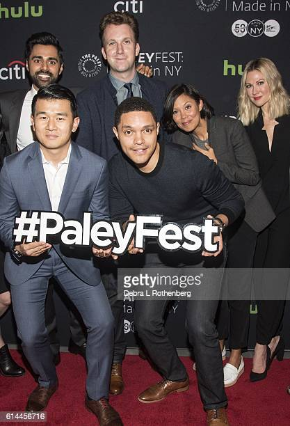 Hasan Minhaj Jordan Klepper Moderator Alex Wagner Desi Lydic Ronny Chieng and Trevor Noah attend the PaleyFest New York 2016'The Daily Show With...
