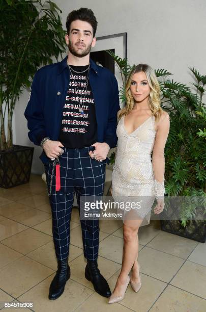Hasan Piker and Hannah Cranston at the 2017 Streamy Awards at The Beverly Hilton Hotel on September 26 2017 in Beverly Hills California