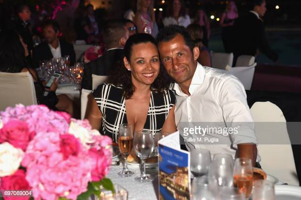 Hasan Salihamidzic and Esther Copado attend The Costa Smeralda Invitational Gala Dinner at Cala di Volpe Hotel Costa Smeralda on June 17 2017 in...