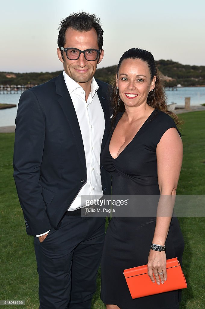 Hasan Salihamidzic and Esther Copado attend the Gala Dinner during The Costa Smeralda Invitational golf tournament at Pevero Golf Club - Costa Smeralda on June 25, 2016 in Olbia, Italy.
