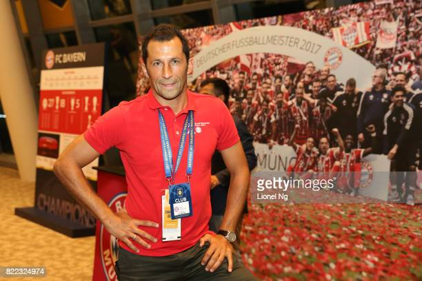 Hasan Salihamidzic Bayern Munich legend at half time during the ICC Singapore match between Chelsea and FC Bayern in the Champions Lounge at National...