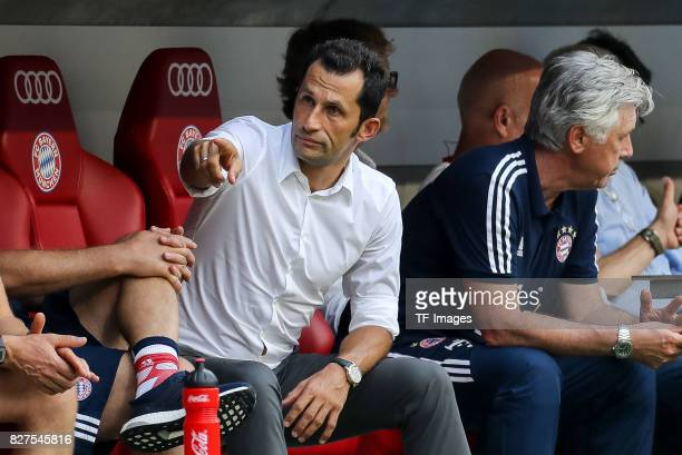 Hasan Salihamidzic of Bayern Muenchen gestures during the Audi Cup 2017 match between SSC Napoli and FC Bayern Muenchen at Allianz Arena on August 2...