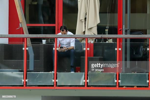 Hasan Salihamidzic of Bayern Muenchen looks on during a training session at the FC Bayern Muenchen Training center on October 9 2017 in Muenchen...