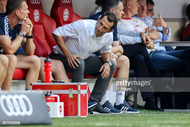 Hasan Salihamidzic of Bayern Muenchen looks on during the Audi Cup 2017 match between SSC Napoli and FC Bayern Muenchen at Allianz Arena on August 2...