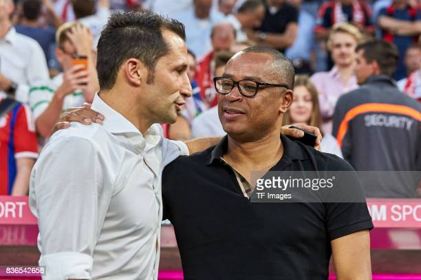 Hasan Salihamidzic of Muenchen and Paolo Sergio looks on during the Bundesliga match between FC Bayern Muenchen and Bayer 04 Leverkusen at Allianz...