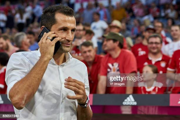 Hasan Salihamidzic of Muenchen looks on during the Bundesliga match between FC Bayern Muenchen and Bayer 04 Leverkusen at Allianz Arena on August 18...