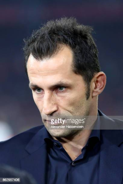 Hasan Salihamidzic sport director of Muenchen looks on prior to the UEFA Champions League group B match between Bayern Muenchen and Celtic FC at...