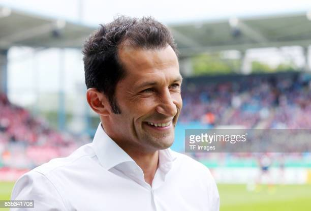 Hasan Salihamidzic sporting director of FC Bayern Muenchen looks on during the DFB Cup first round match between Chemnitzer FC and FC Bayern Muenchen...
