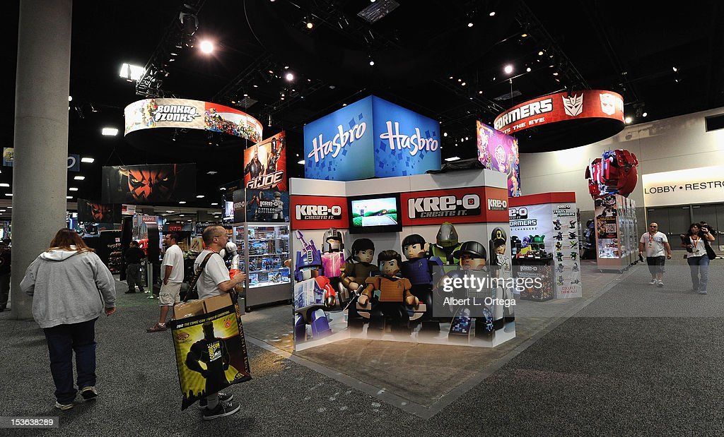 Hasbro booth during day 3 of Comic-Con International 2012 held at San Diego Convention Center on July 14, 2012 in San Diego, California.