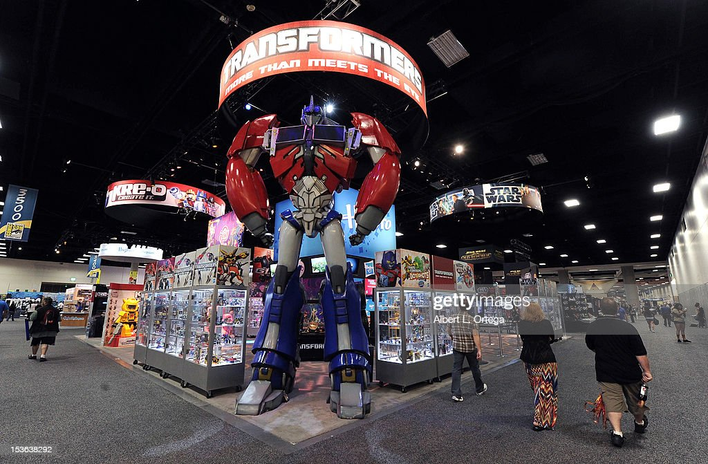 Hasbro booth with Transformers display during day 3 of Comic-Con International 2012 held at San Diego Convention Center on July 14, 2012 in San Diego, California.