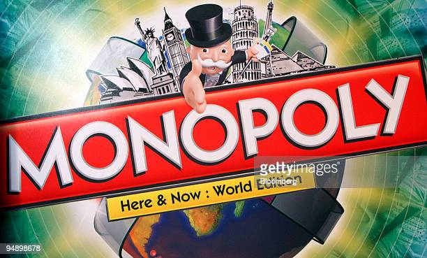 Hasbro Inc's Monopoly board game is displayed during the Hasbro New York Toy Fair 2008 in New York US on Friday Feb 15 2008 The US Toy Industry...