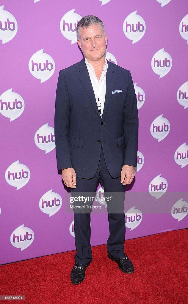 Hasbro Studios President Steve Davis attends the premiere of Hub TV Network's 'Transformer's Prime Beast Hunters' at The Globe Theatre at Universal Studios on March 14, 2013 in Universal City, California.