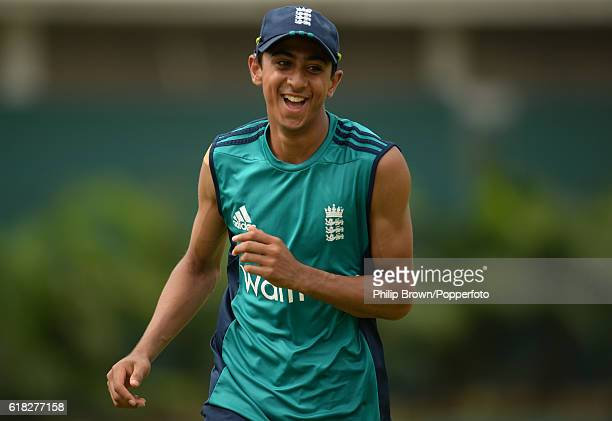 Haseeb Hameed during a training session before the second test match between Bangladesh and England at Shere Bangla National Stadium on October 26...
