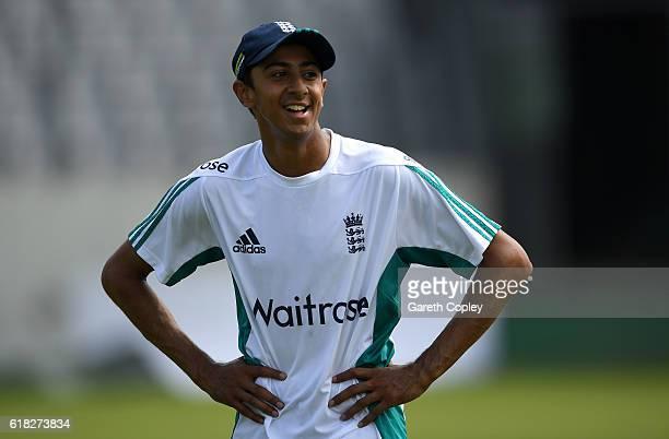 Haseeb Hameed of England during a nets session at ShereBangla National Cricket Stadium on October 26 2016 in Dhaka Bangladesh