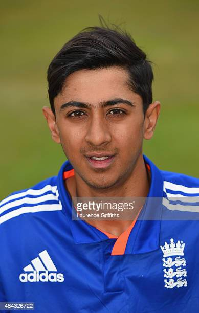 Haseeb Hameed of England poses for a portrait prior to the U19 One Day International match between England U19 and Australia U19 at The County Ground...