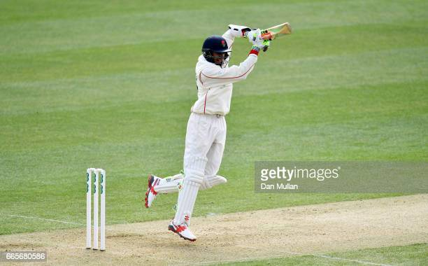 Haseeb Hameed of Lancashire bats during day one of the Specsavers County Championship Division One match between Essex and Lancashire at the Cloudfm...