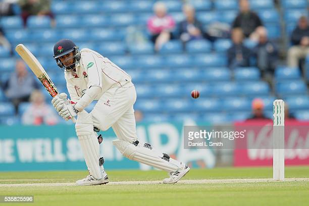 Haseeb Hameed of Lancashire bats during day two of the Specsavers County Championship Division One match between Yorkshire and Lancashire at...