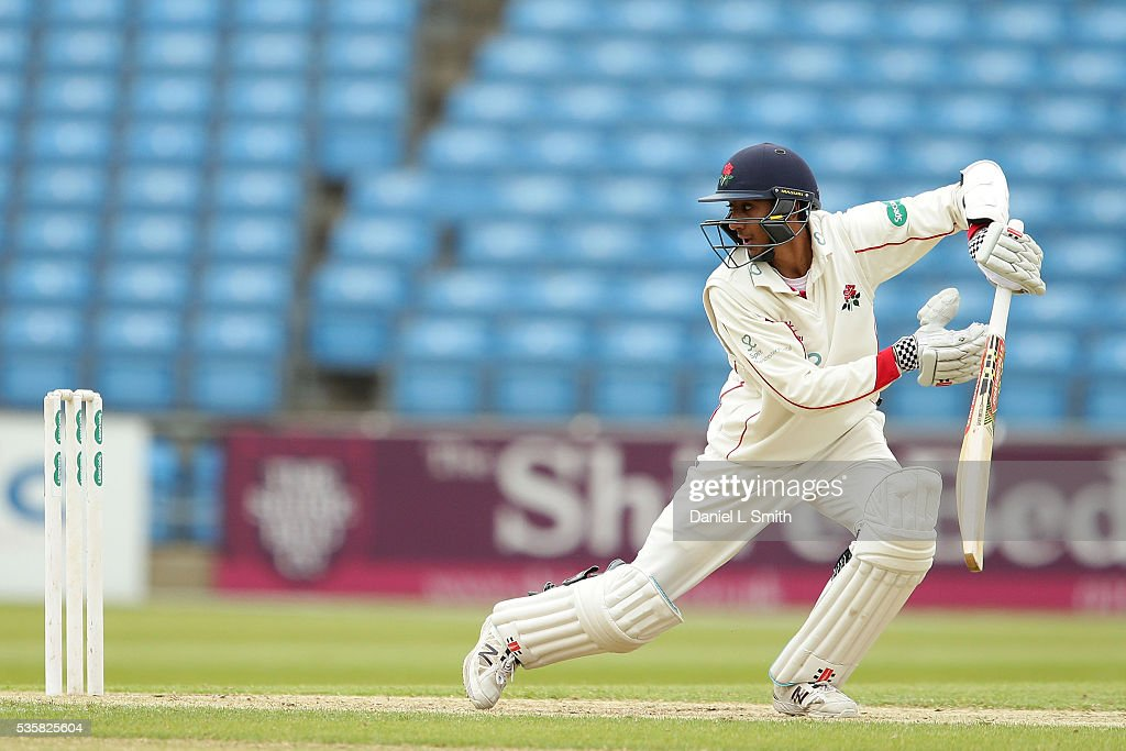 Haseeb Hameed of Lancashire bats during day two of the Specsavers County Championship: Division One match between Yorkshire and Lancashire at Headingley on May 30, 2016 in Leeds, England.