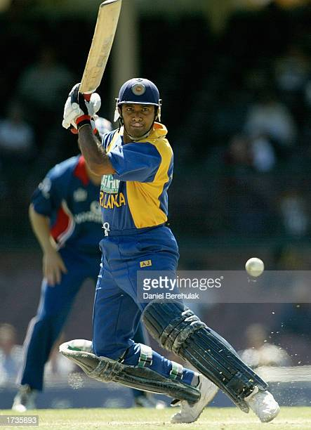 Hashan Tillakaratne of Sri Lanka in action during the VB series One Day International match played between England and Sri Lanka held at the Sydney...