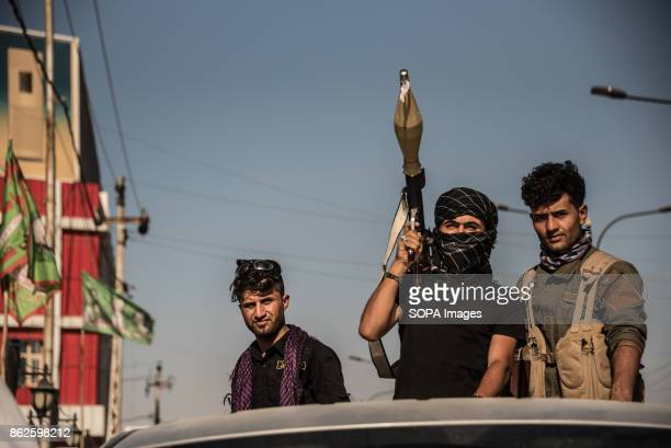 Hashd al Shaabi troops in the turkman area of Kirkuk the day after they took the city from the Kurdish Peshmerga in fewer than 24 hours during an...