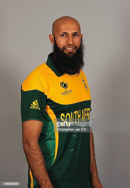 Hashim Amla during the South Africa Portrait Session at the Royal Gardens Hotel on June 2 2013 in London England