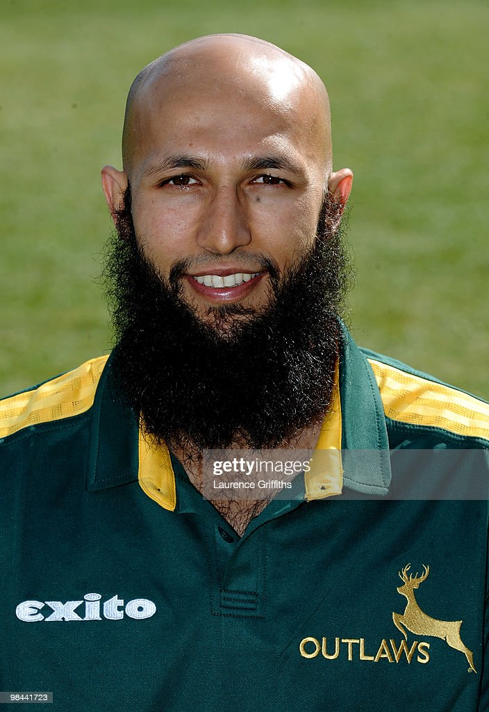 <a gi-track='captionPersonalityLinkClicked' href=/galleries/search?phrase=Hashim+Amla&family=editorial&specificpeople=647392 ng-click='$event.stopPropagation()'>Hashim Amla</a> of Nottingamshire CCC poses for a portrait during a Photocall at Trent Bridge on April 13, 2010 in Nottingham, England.