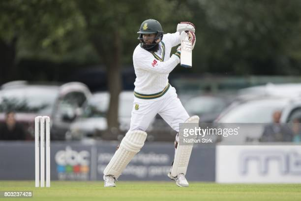 Hashim Amla of South Africa A batting during a tour match between England Lions and South Africa A at New Road on June 29 2017 in Worcester England