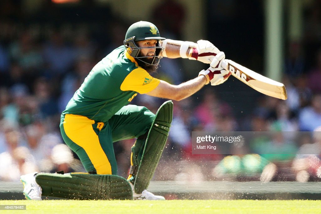 Hashim Amla of South Africa bats during the 2015 ICC Cricket World Cup match between South Africa and the West Indies at Sydney Cricket Ground on February 27, 2015 in Sydney, Australia.