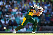 Hashim Amla of South Africa bats during the 2015 ICC Cricket World Cup match between South Africa and the West Indies at Sydney Cricket Ground on...