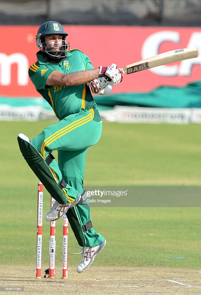 Hashim Amla of South Africa during the 5th Momentum ODI match between South Africa and Pakistan from Willowmoore Park on March 24, 2013 in Benoni, South Africa.
